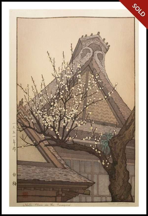 Toshi Yoshida - White Plum in the Farmyard (1951)